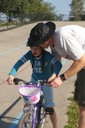 Faster than daddy!