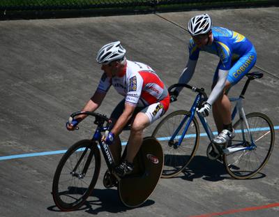 John Lewis races Ian McGinley