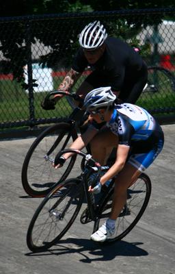 Peta Stewart races Craig Towers