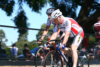 John Lewis and Merv Tracy race for D grade 1st place