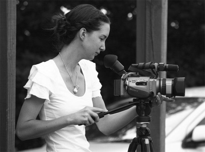 Rachel Matties on video duties